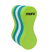 Maru Pull Buoy one size fits most in lime/blue/white