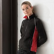 Finden & Hales Women's Piped Microfleece Jacket