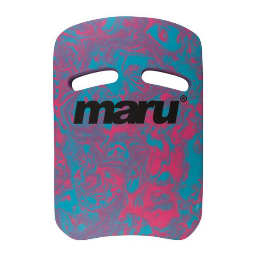 Maru Swirl Kickboard with two grips blue and pink