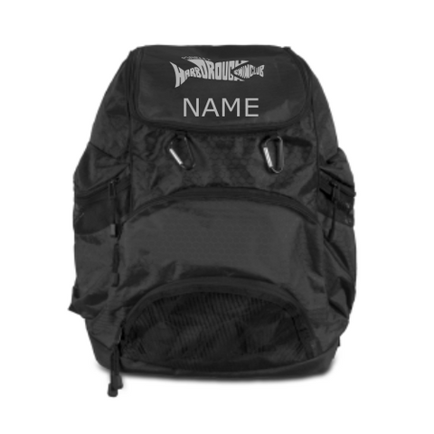 Market Harborough Swim Club Back Pack in Black