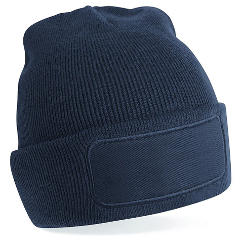 Beechfield Printer's patch beanie. BC445