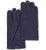 Handmade navy blue moose leather gloves with yellow cashmere lining from Nordic Moose
