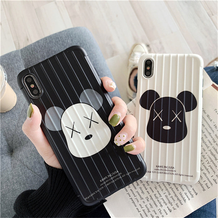 Ins Style Creative Kaws 3D Design Striped Phone Case For iPhone