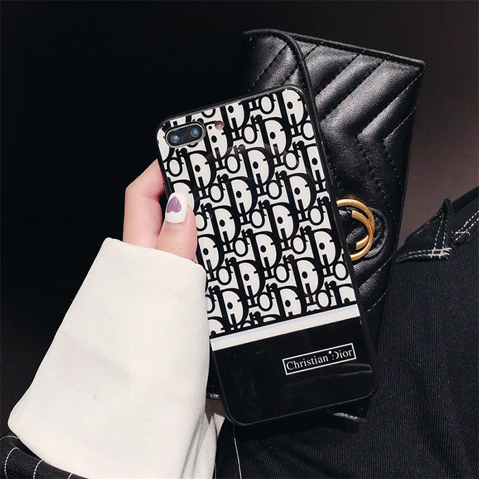 Fashion Retro Luxury Brand All-inclusive Glass Phone Case For iPhone