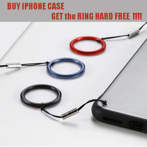 Ultra-thin Rimless PC  Matte Phone Case For iPhone 7 8 Plus X XR XS Max - Get Ring Hard FREE!!!