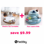 Funny Pet Toy Cat automatic Ball Disk Interactive Amusement Plate Trilaminar Turntable Cat Toy Non-toxic material