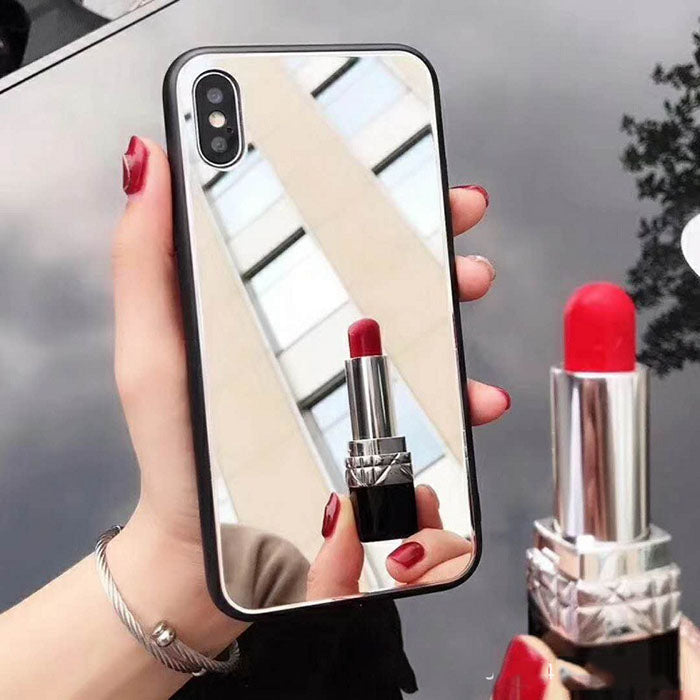Creative Mirror Phone Case For IPhone - Makeup,Light,Durable