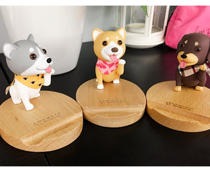cute dog multi-function mobile phone holder