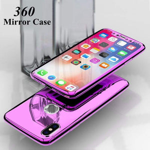 360 Degree Full Body Case Soft HD Screen Protector Film Ultralight Slim Hard Mirror For iPhone