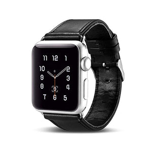 Genuine Leather Watch Strap Fashion Series Apple Watch Leather Strap Band Stainless Steel Buckle