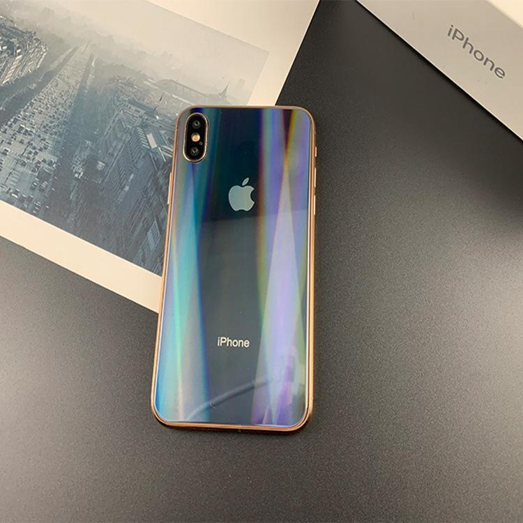 Aurora Full Screen Laser Color Back Glass Protective Film For iPhone