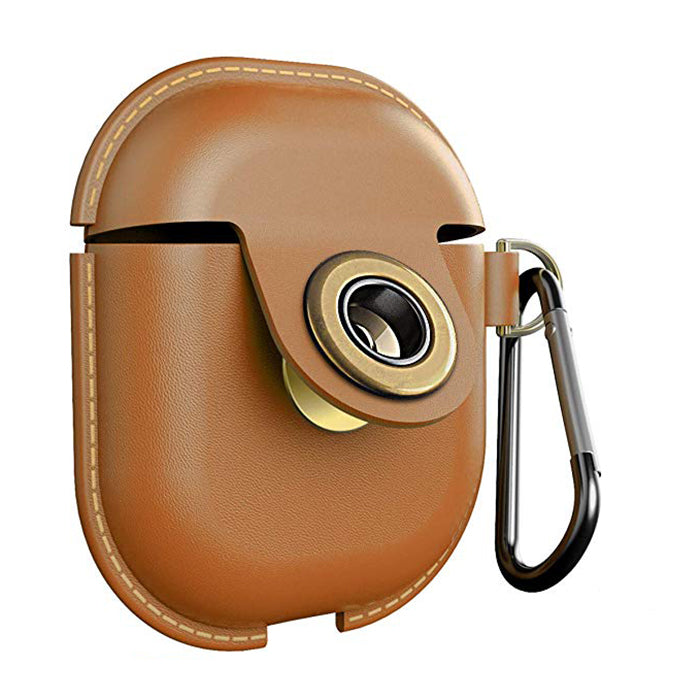 low priced c1a34 c596c AirPods Leather Case Cover Accessories Keychain Protect Case ...