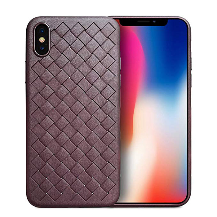 Soft Flexible TPU [Leather-Grain] Slim Protection Fashion Soft Shell IPhone X/Xs case