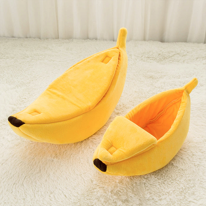 Banana Cat Dog Bed Soft Pet house