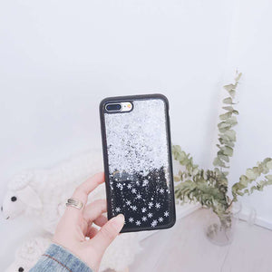Snow glitter Pattern Soft TPU IPhone Case