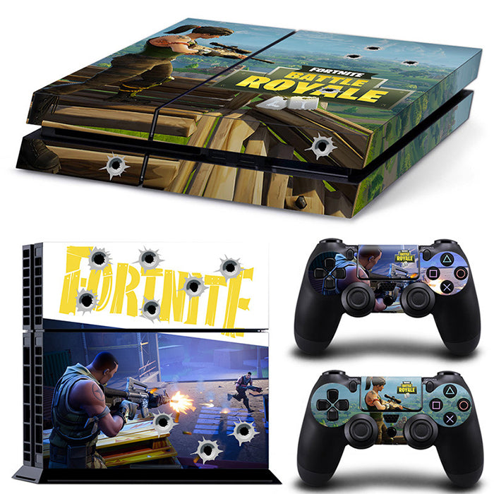 Fashion Fortnite game style colors PS4 Whole Body Skin Sticker Decal Cover for System Console and Controllers