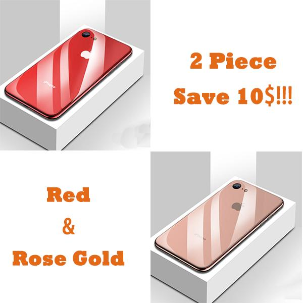 All-inclusive Anti-drop Plating Mirror Original Phone Case For iPhone 7/8/7Plus/8Plus--2 Pieces