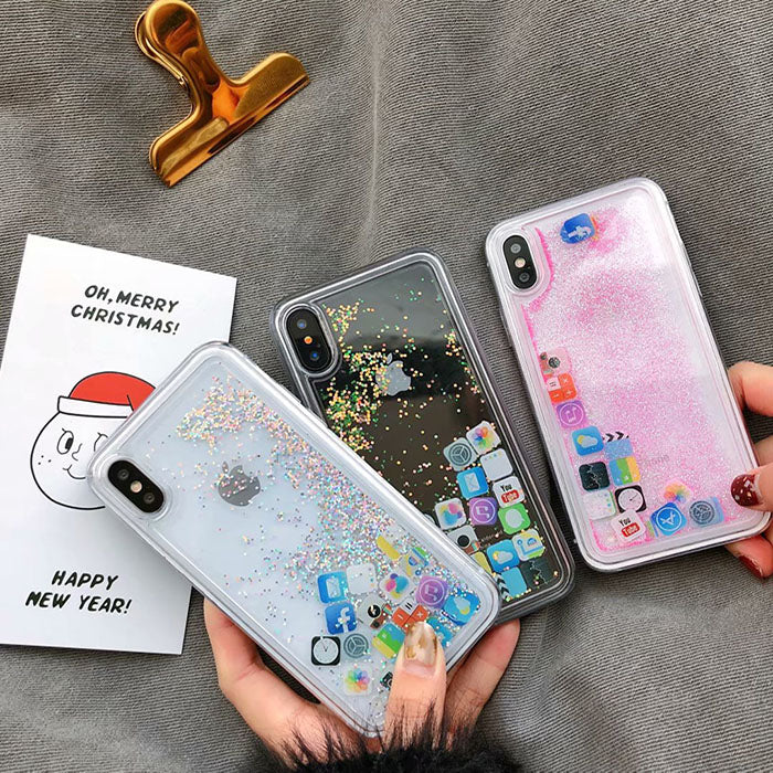 Creative Apple App Icon Quicksand Phone Case For Iphone