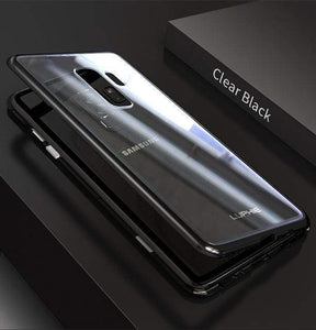 Luphie Magnetic Adsorption Aluminum Tempered Glass Protective Case For Samsung Galaxy S8S8 Plus