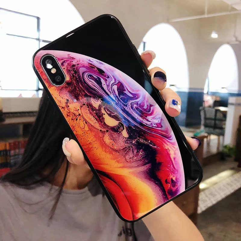 iPhone Official Wallpaper Tempered Glass Phone Case