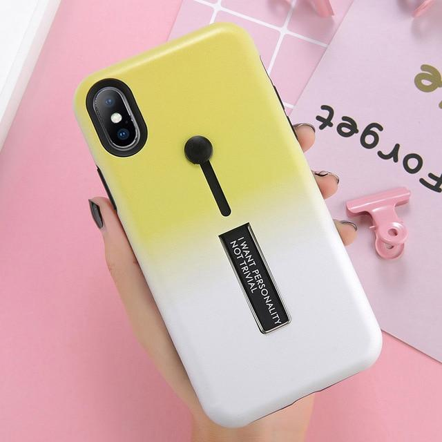 Invisible Ring Bracket Phone Case For iPhone 6/ 6SPlus/7 /8Plus/ X/XR /XS MAX