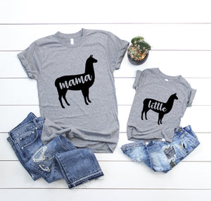 3bc7f7c7d4 Mama llama and little llama mommy and me matching outfit shirt set