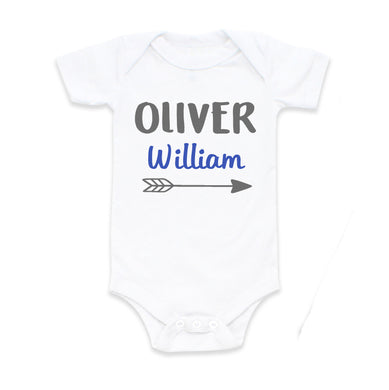 7df0cdb41854 Baby Boy Coming Home Outfit Personalized Newborn Baby Shower Gift with  First and Middle Name