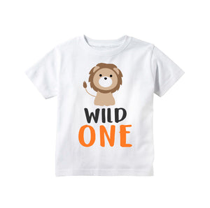 1d951b5c2 Wild One Lion Jungle Safari or Zoo First 1st Birthday T Shirt