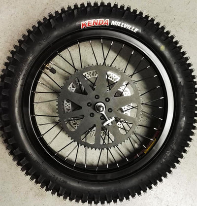 "ASSEMBLED REAR 16"" WHEEL: CROSS AND CROSS HERO"