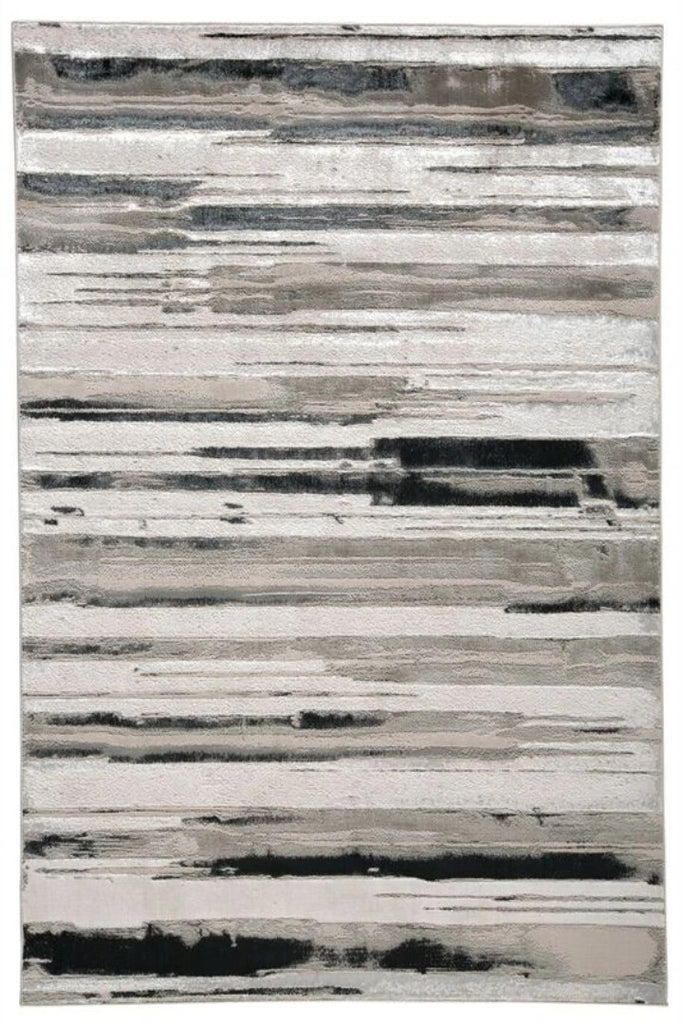 striped-grey-black-rugs Monochromatic Striped Distressed rugs - Modern Abstract Contemporary Interior Design Style - Australia