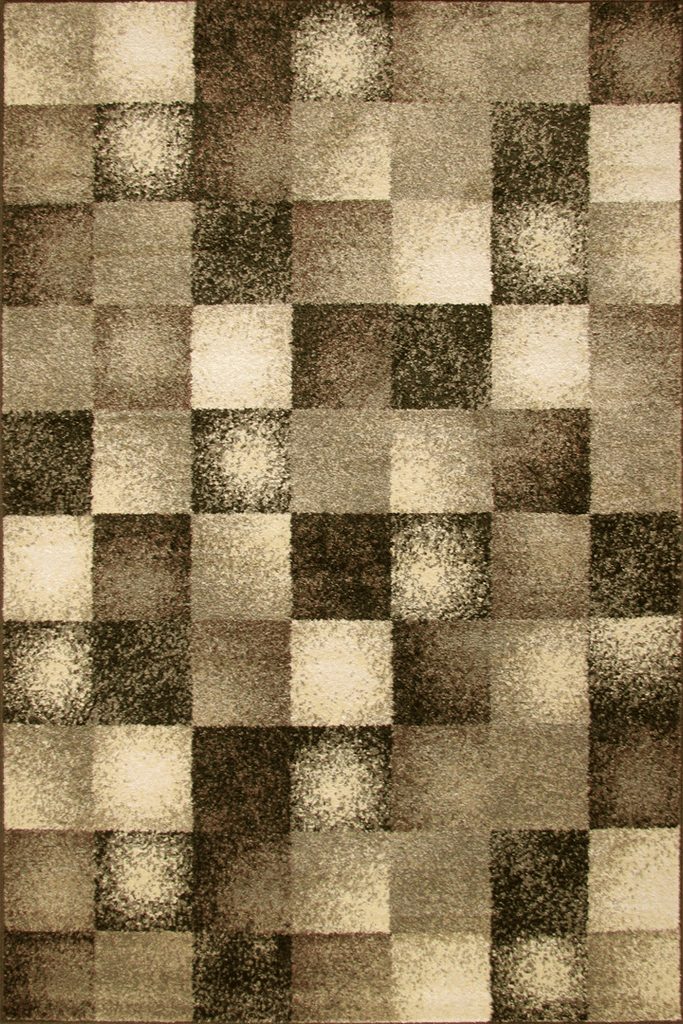 Rustic Contemporary Square Pattern Rugs