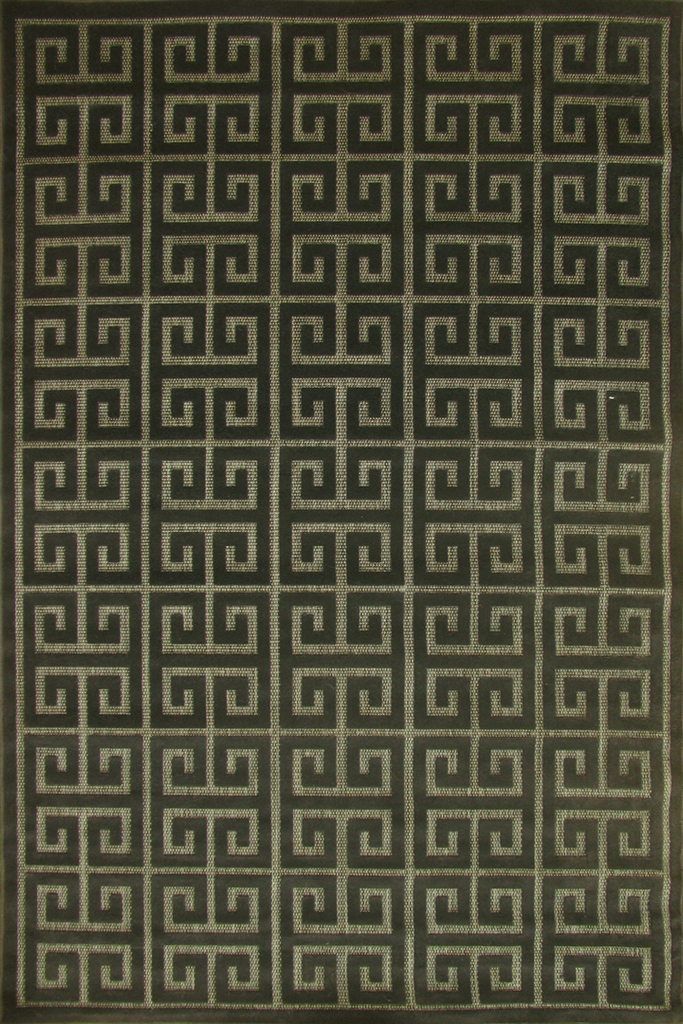 Charcoal Greek Motif Rug - Traditional Contemporary Interior Design Style - Australia