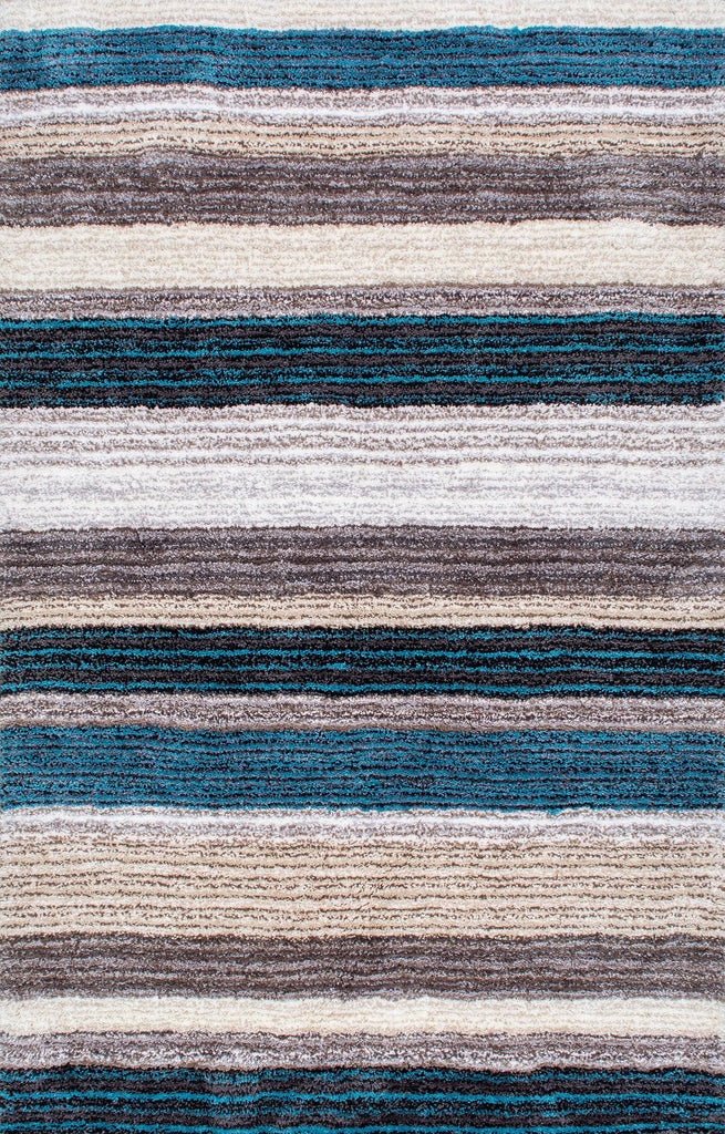 Splendor Striped Shaggy Rug
