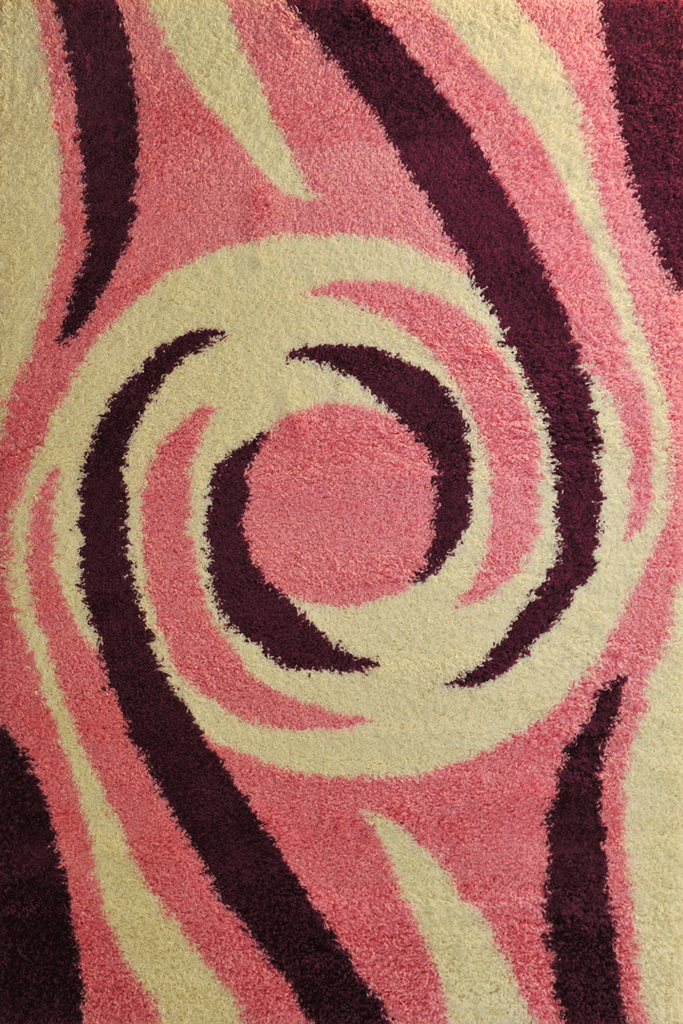 Pink Abstract Shaggy Rugs - Modern Interior Design Style - Australia