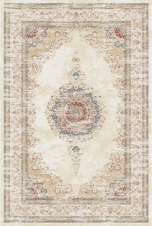 Majesty Bamboo Silk Traditional Rug 4568G-Cream-Cream
