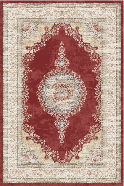 Majesty Bamboo Silk Traditional Rug 4568G-Red-Cream