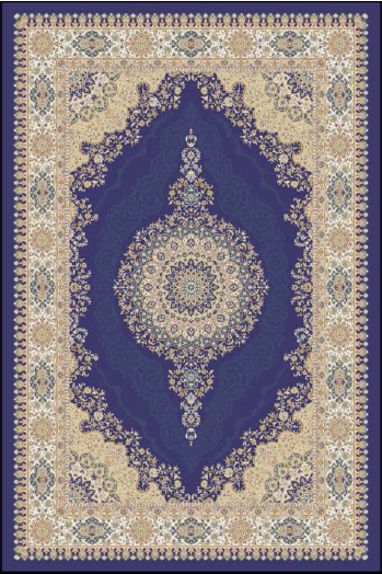 Majesty Bamboo Silk Traditional Rug 4568I-Navy-Cream