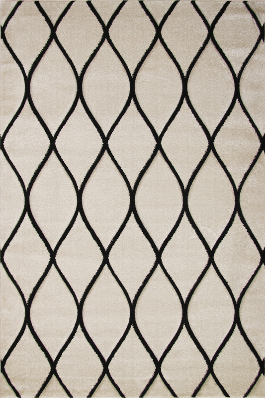 White Black Diamond Patterned rugs - Modern Abstract Contemporary Interior Design Style - Australia
