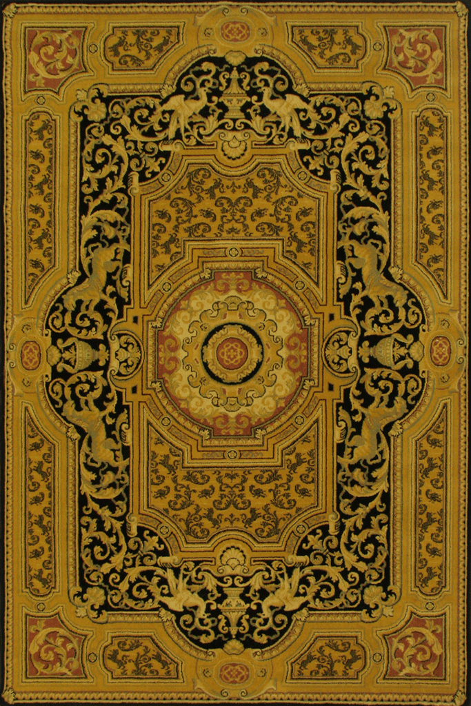 5  Star Wool Traditional Medallion Rug