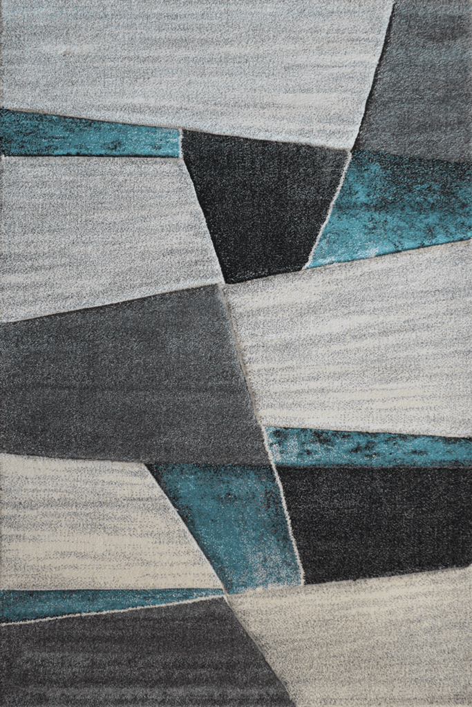 Love Modern Abstract Rugs - Blue Sapphire