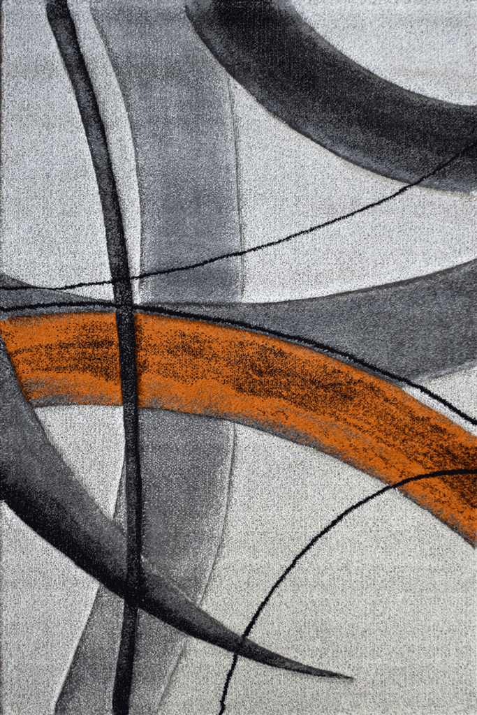 Love Modern Abstract Rugs - Orange Topaz