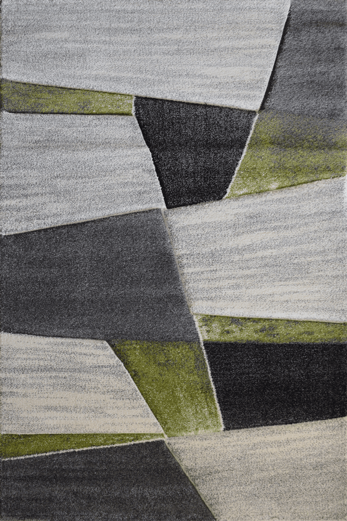 Love Modern Abstract Rugs - Green Emerald
