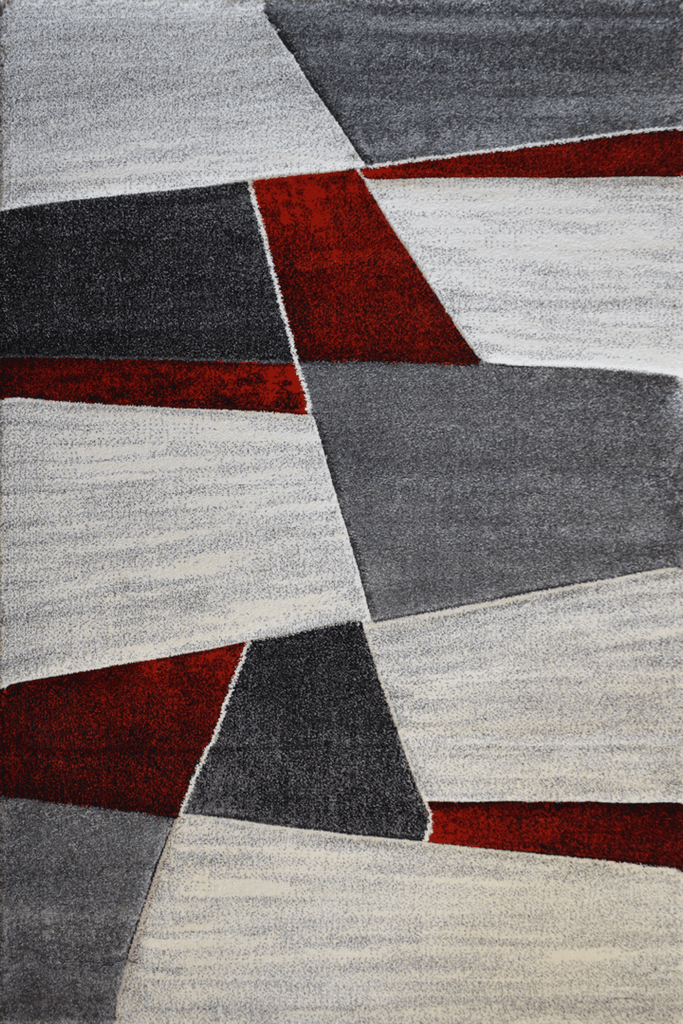 Love Modern Abstract Rugs - Ruby Red