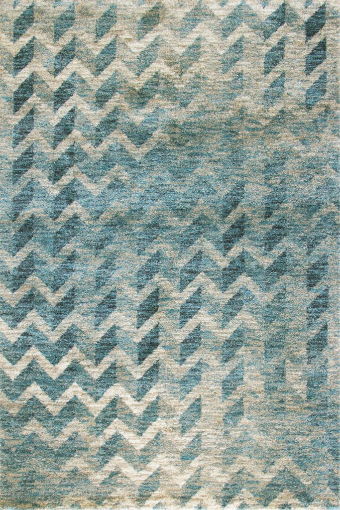 Feathers Contemporary Chevron Rug