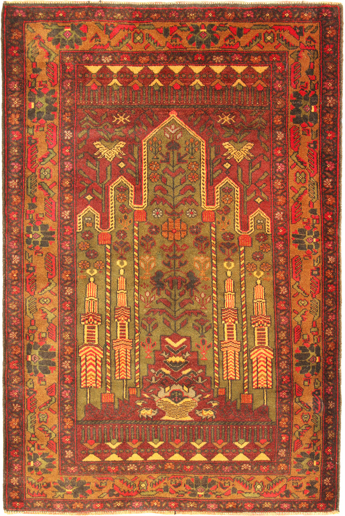 Baluch Hand Knotted  Wool Rug 140X85cm