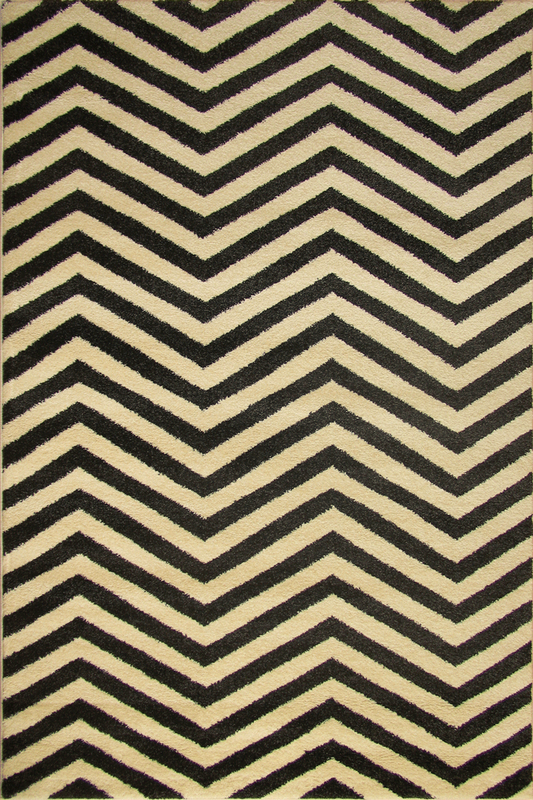 White Black Chevron Stripe rugs - Sophisticated Soft Pile - Contemporary Classic Interior Design Style - Australia
