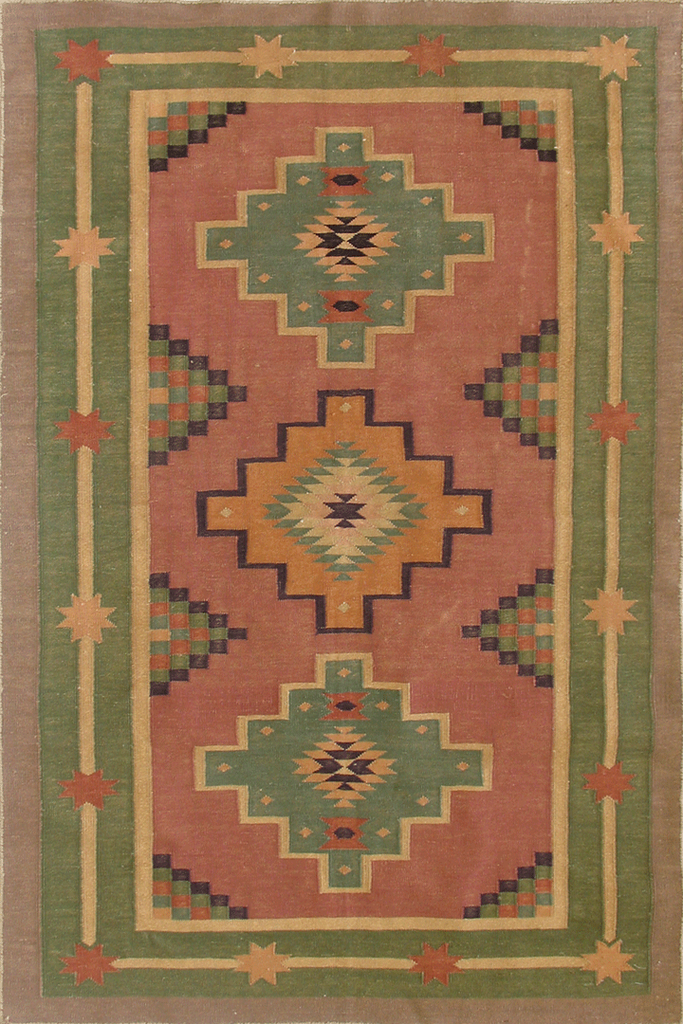 Indian Hand Woven  Wool Kilim