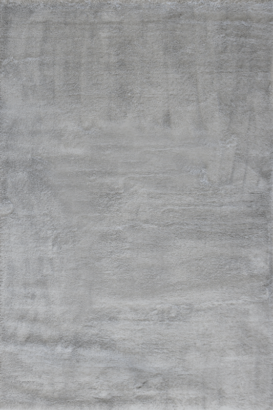Light Grey Plain Luxurious Shaggy Soft Rug - Contemporary Interior Design Style - Australia