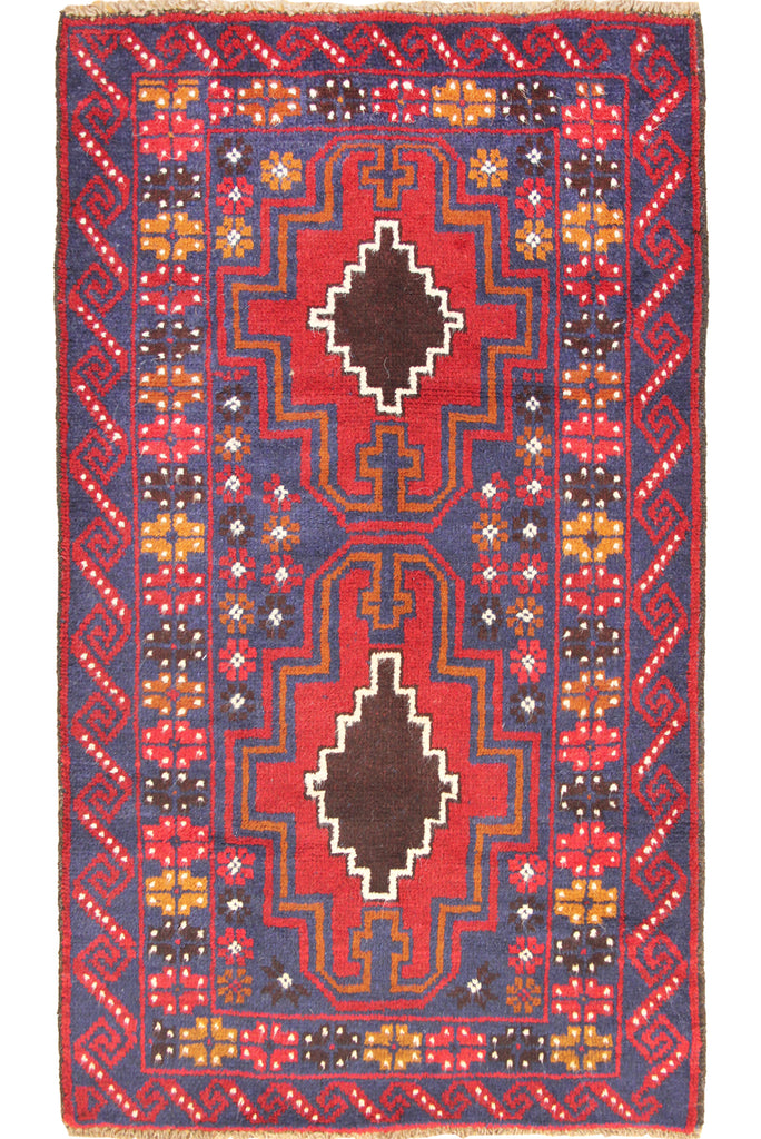 Baluch Hand Knotted  Wool Rug 125x80cm
