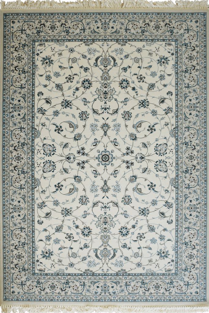 Light Blue Floral wool rugs - Traditional Contemporary Interior Design Style - Australia